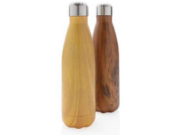bouteille isotherme en bois