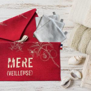 Pochette en tissu fabriqué en France fête des mères