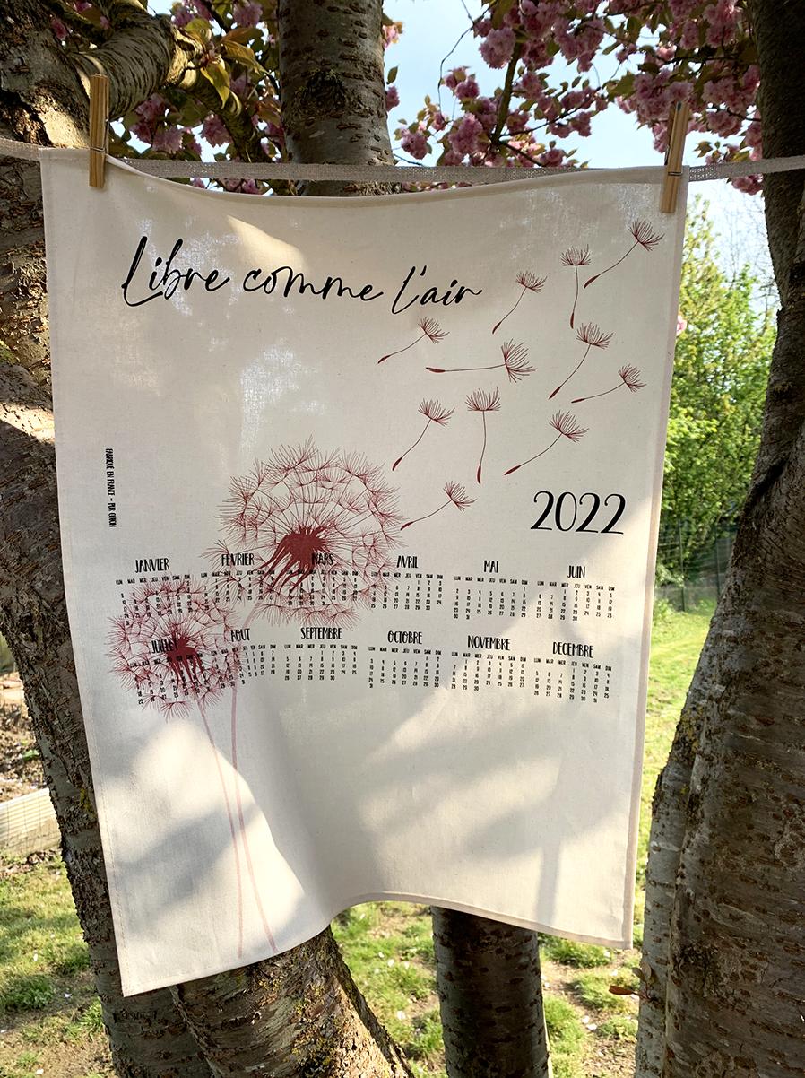 calendrier textile libre comme l'air